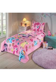 Colcha Solteiro My Little Pony 1 Peça - 100% Algodão - Dohler