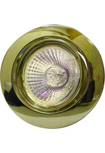 Spot Dicróica Dirigível Zamac Mr16 50W 220V Dourado