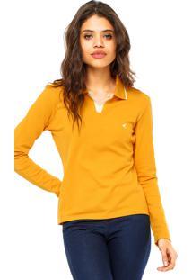 Camisa Pólo Amarela Malwee feminina  70a5ee44ab4f7