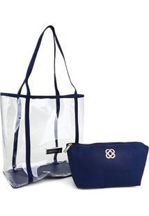Bolsa Petite Jolie Piper Bag Feminina - Feminino-Azul