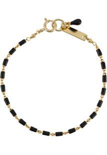Isabel Marant Beaded Chain Bracelet - Preto