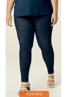 Calça Azul Escuro Skinny Flex Jeans Plus