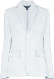Polo Ralph Lauren Blazer Com Efeito De Lavagem - Azul