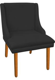 Cadeira Poltrona Decorativa Liz Suede Preto - D'Rossi