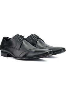 Sapato Social Bigioni Em Couro Masculino - Masculino-Preto