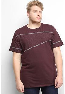Camiseta Gajang Plus Size Masculina - Masculino-Marrom