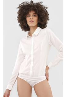 Body Queens Paris Camisa Recortes Off-White