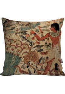 Capa De Almofada Egyptian Culture- Bege Escuro & Marrom Stm Home