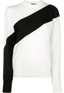 Calvin Klein 205W39Nyc Suéter Com Recortes - Neutro