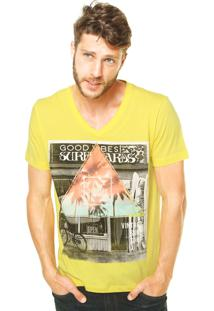 Camiseta Sommer Reta Amarela