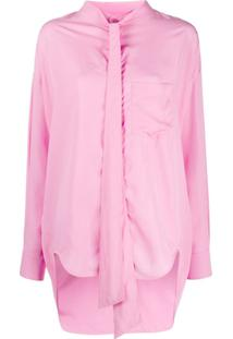 Balenciaga Blusa Oversized New Swing - Rosa