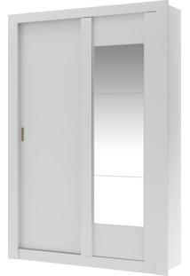 Guarda-Roupa 2 Portas Carraro Elus 1094 C Espelho Branco Native Se