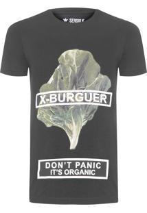 Camiseta Masculina X Burguer - Preto