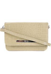 Bolsa Santa Lolla Mini Bag Croco Feminina - Feminino-Verde