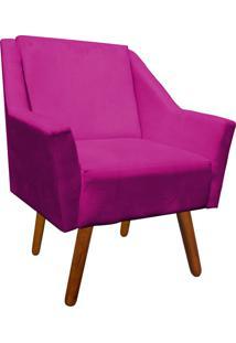 Poltrona Decorativa Ana Suede Pink - D'Rossi