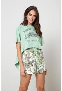 Blusa Harmony Couture Montanha Oh, Boy! Feminina - Feminino-Verde