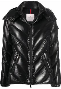 Moncler Chevron Padded Jacket - Preto
