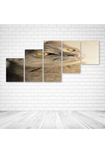 Quadro Decorativo - Cat189 - Composto De 5 Quadros - Multicolorido - Dafiti