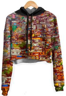 Blusa Cropped Moletom Feminina Over Fame Favela Md01 - Kanui