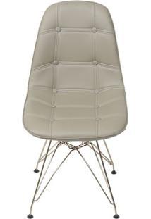 Cadeira Eames Botonãª- Fendi & Bronze- 83X44X39Cmor Design