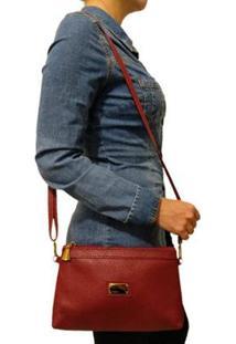 Bolsa Carteira Topgrife Clutch Transversal Feminina - Feminino-Vermelho