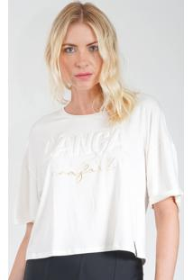 Camiseta Lança Perfume Cropped Branco - Kanui