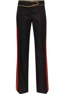 Paco Rabanne Contrast-Stripe Tailored Trousers - Preto