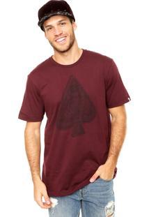Camiseta Mcd Wireframe Vinho
