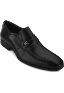 Sapato Social Jota Pê Bico Quadrado Masculino - Masculino-Preto