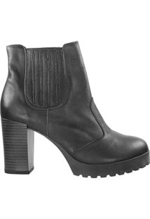Bota Vani Sun Red Ankle Boot Feminina Preto - 34