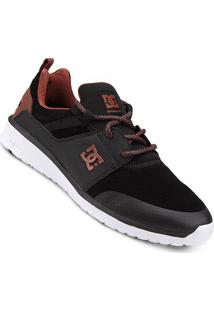 Tênis Dc Shoes Heathrow Prestige Masculino - Masculino-Preto+Branco