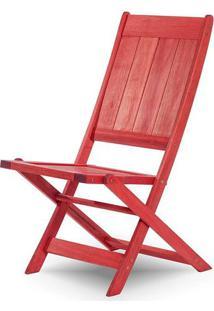 Cadeira Retangular Dobravel Acqualung+ S/Braco Vermelho 99Cm - 61635 - Sun House