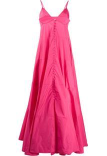 Jacquemus Vestido Longo La Robe Manosque - Rosa