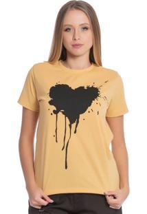 Blusa Feminina Com Coração Amarelo
