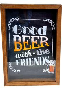 Quadro Prolab Gift Porta Tampas E/Ou Lacres Good Beer Tabaco