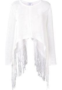 Dondup Suéter Com Franjas - Branco