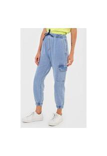 Calça Jeans Forum Jogger Amarração Azul