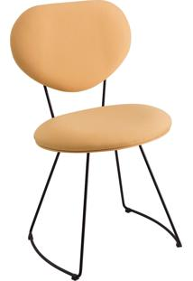 Cadeira Milao Aço T1132 Linho Daf Amarelo
