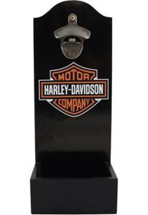 Abridor De Garrafas Com Dispenser Harley Davidson - Zona Criativa