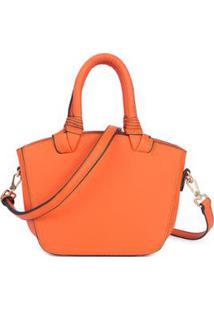 Bolsa Macadâmia Mini Bag De Mão Feminina - Feminino-Laranja