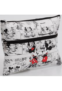 Necessaire Feminina Estampa Minnie E Mickey Disney