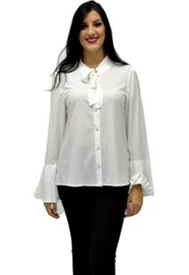 Camisa Manga Longa Energia Fashion Off White