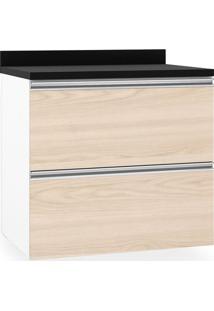 Balcão De Cozinha, 2 Gavetas, P60, Branco Fosco Com Vanilla, Touch