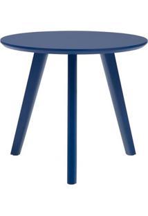 Mesa Lateral Paint Baixa Azul Acetinado 45 Cm (Alt) - 50976 - Sun House