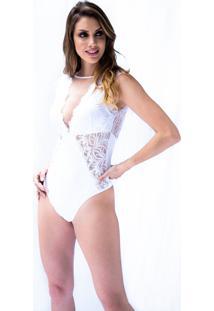 Body Move On Intimates Renda E Tule Com Bojo Branco