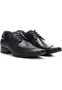 Sapato Social Couro Rafarillo Texturizado Las Vegas Masculino - Masculino-Preto