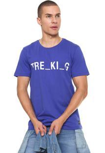 Camiseta Sommer Estampada Azul