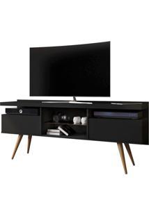 Rack Bancada Para Tv Até 55 Pol. Lavina 1.6 Preto Fosco - Mpozenato