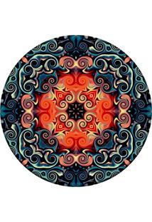 Tapete Love Decor Redondo Wevans Mosaic Oriental Multicolorido 84Cm - Azul - Dafiti