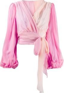 Dolce & Gabbana Blusa Drapeada - Rosa